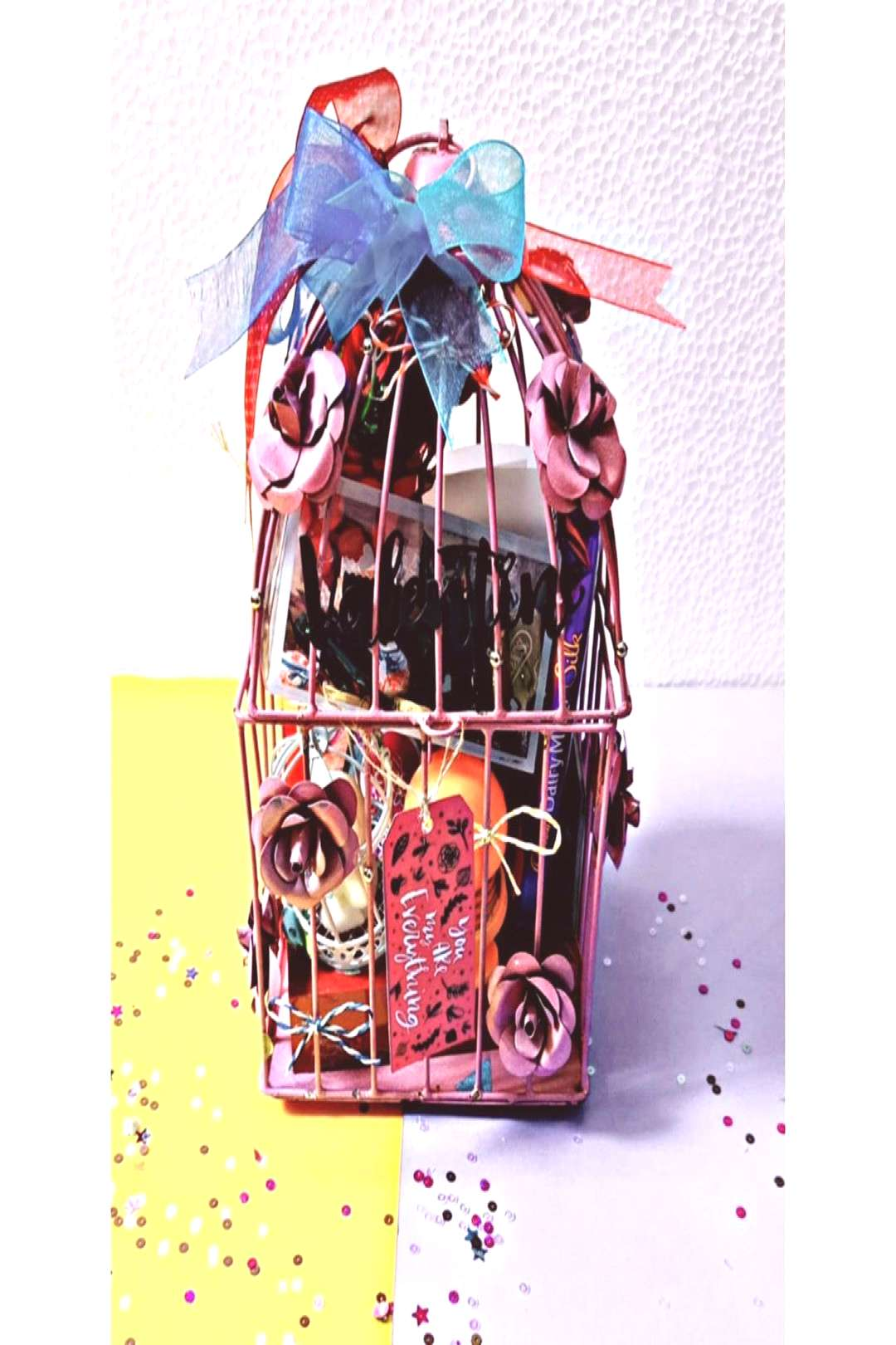 11 inches cage { Available in more sizes} Cage full of tiny gifts