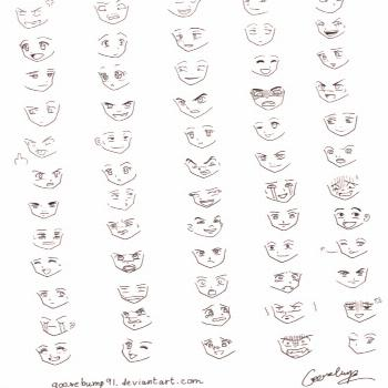 ✔ Anime Face Expressions Chibi -  ✔ Anime Face Expressions Chibi  -