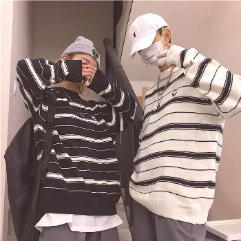 1 or 2? 1⃣ALIEN STRIPED BLACK WHITE SWEATER$19.95 Only 2⃣SAIL