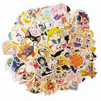 100PCS Sailor Moon Stickers for Water Bottles,Classic