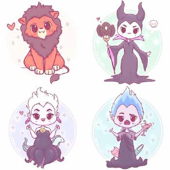 Chibi Disney Villains! ✨???✨ All of these lil guys are now available on my Etsy as sti