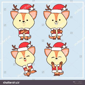 christmas costumes deer christmas costumes deer Deers (Cute Character) - Collection Set 4 |