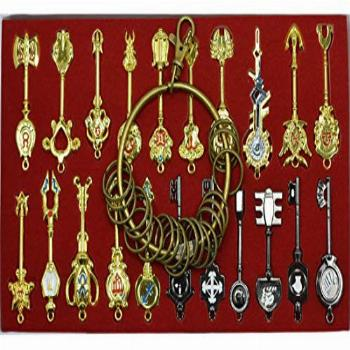 Cosplay Fairy Tail Keys New Collection Set of 21 Golden