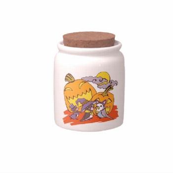 Cute birds halloween party illustration candy dish. illustration candy Purple Wedding Favors | Zazz