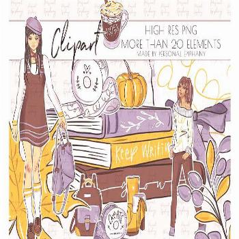 Cute Planner Girl Clipart, Nap Queen Clip Art, Books illustration By Personal Epiphany#clipart