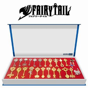 econoLED Fairy Tail, 25Pcs Fairy Tail Lucy Heart Key Chain