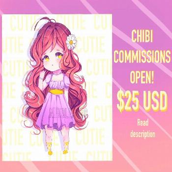 Hello friends! I will be opening chibi commissions for 25 USD. For more information on commissions