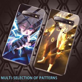 Luxury Cartoon Naruto Tempered Glass Phone Case For Samsung Galaxy S20 S10 E 5G S9 S8 Note 10 9 8 P