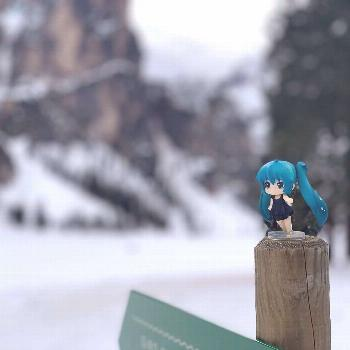 Miku At Winter Braies #miku #hatsunemiku #vocaloid #anime #animef