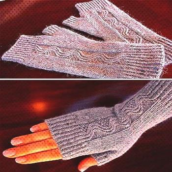 Mitts ...Nalu Mitts ...  Video: How to Add a Dot Border to a Baby Blanket  Free Knitting Pattern fo