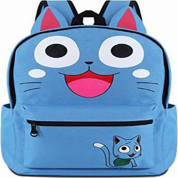 Roffatide Anime Fairy Tail Backpack Cosplay Happy Cat Ears
