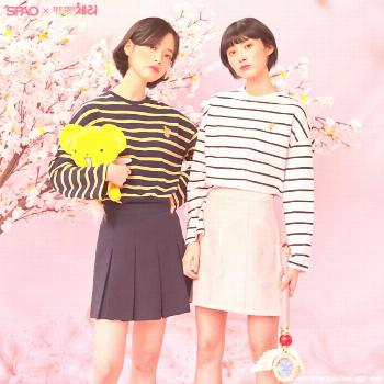 Spao x Cardcaptor Sakura (Stripes Long T-shirt) on sale! Swipe le