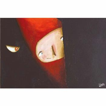 Where did he hide? Red Riding Hood ;) #illustrations #paintings #