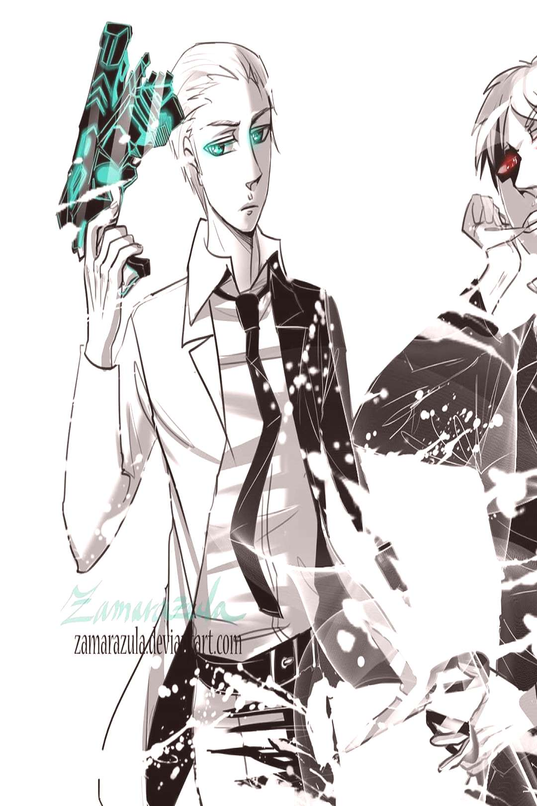 A crossover of Hetalia with Psycho pass, Black butler, Tokyo Ghou