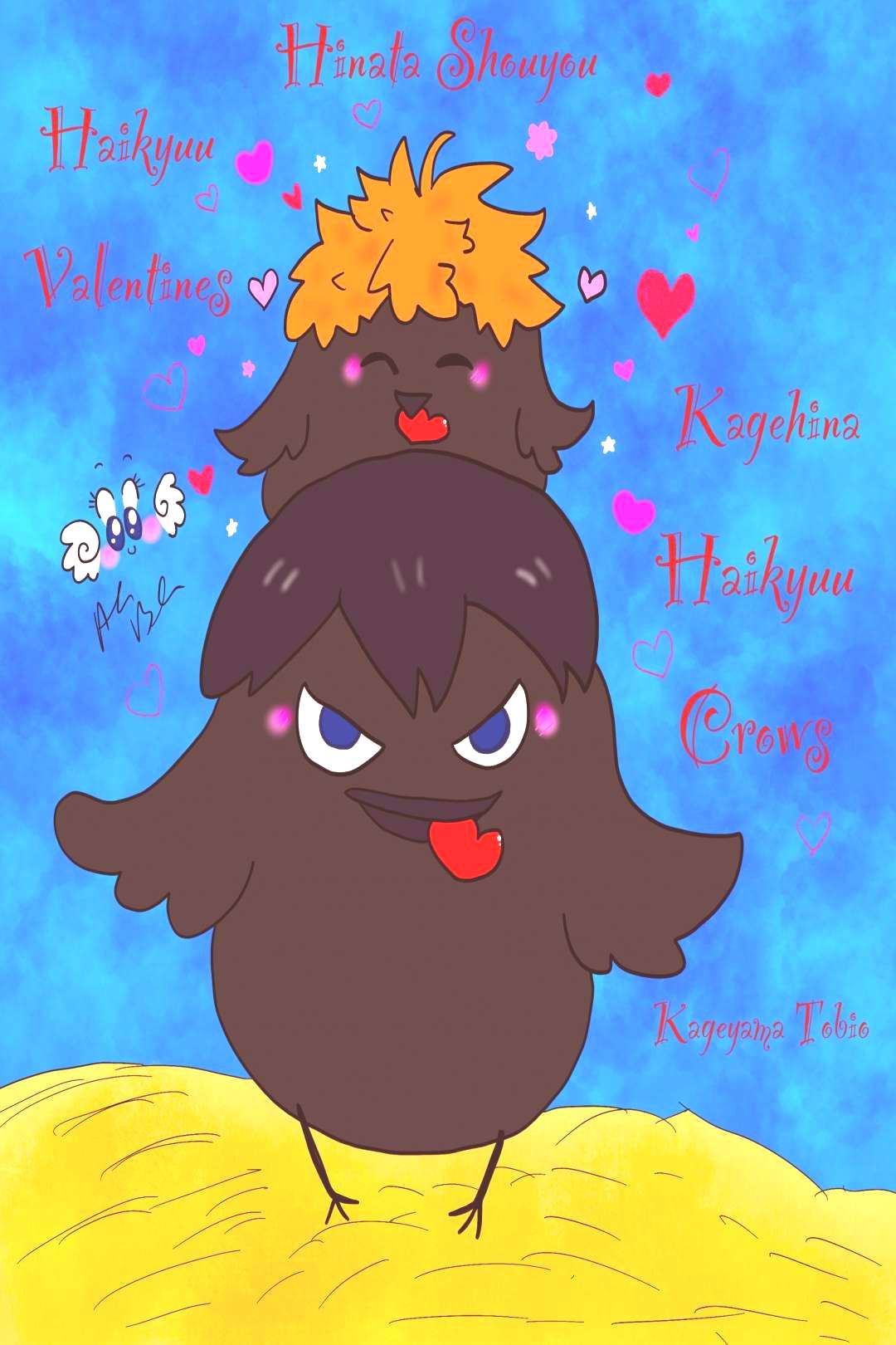 Alana's Art Blog — A little valentine crows fanart...You can find Haikyuu and more on our websi