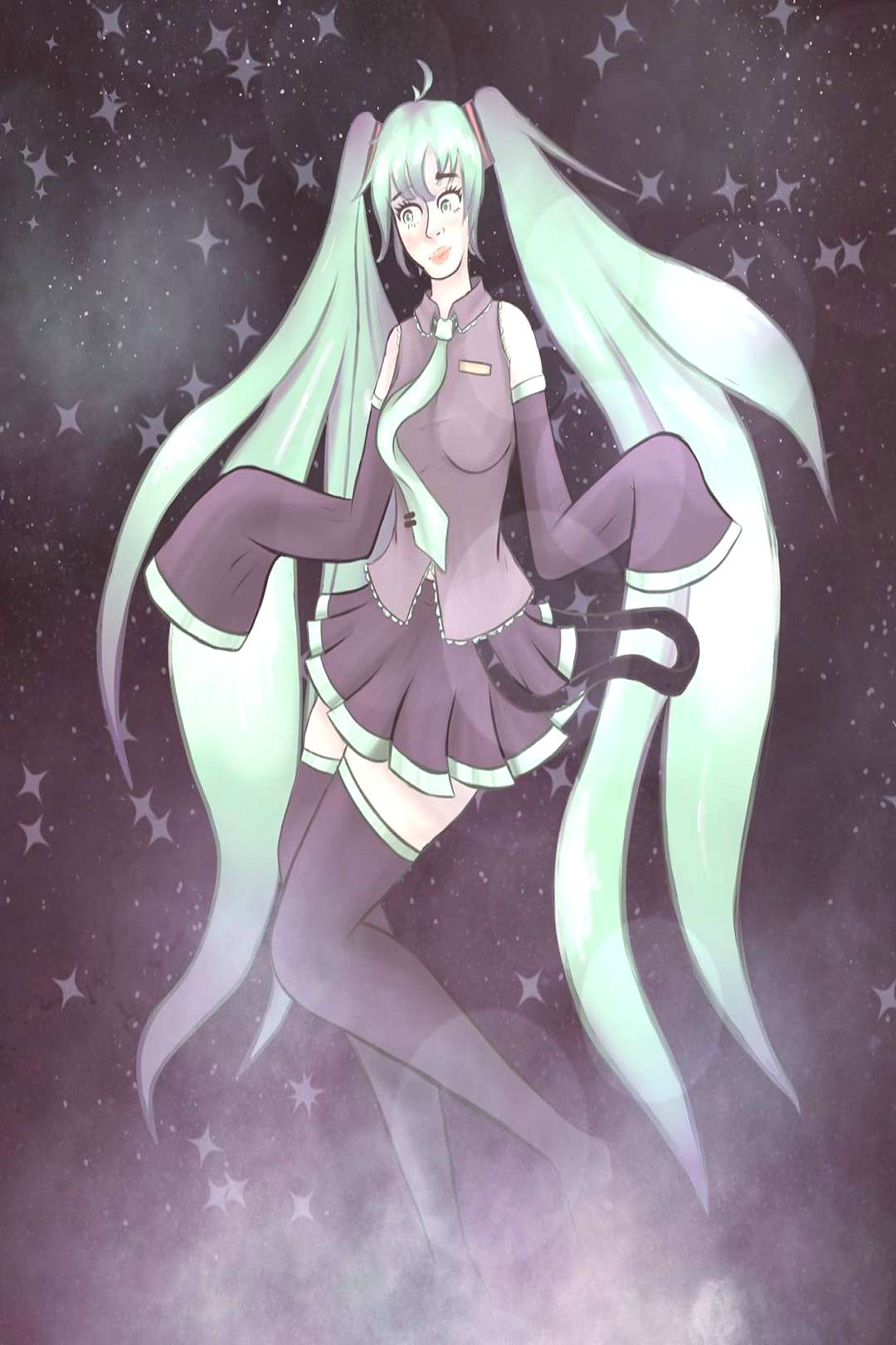 Another redraw of Miku