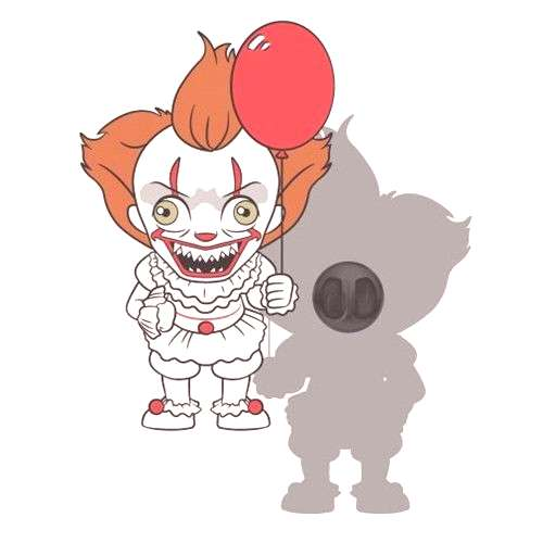Buy It Pennywise Chibi Lapel Pin at Entertainment Earth. Mint Condition Guaranteed. FREE SHIPPING o