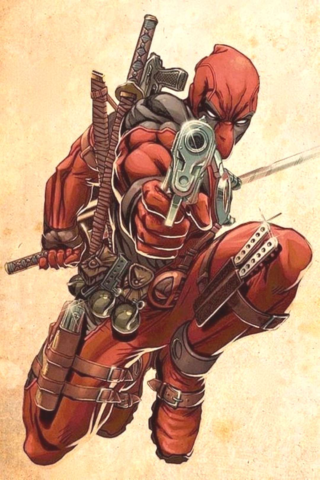 """Cartoons And Heroes -  Deadpool is one of the cooler comic book characters , """" he is the Psychoti"""