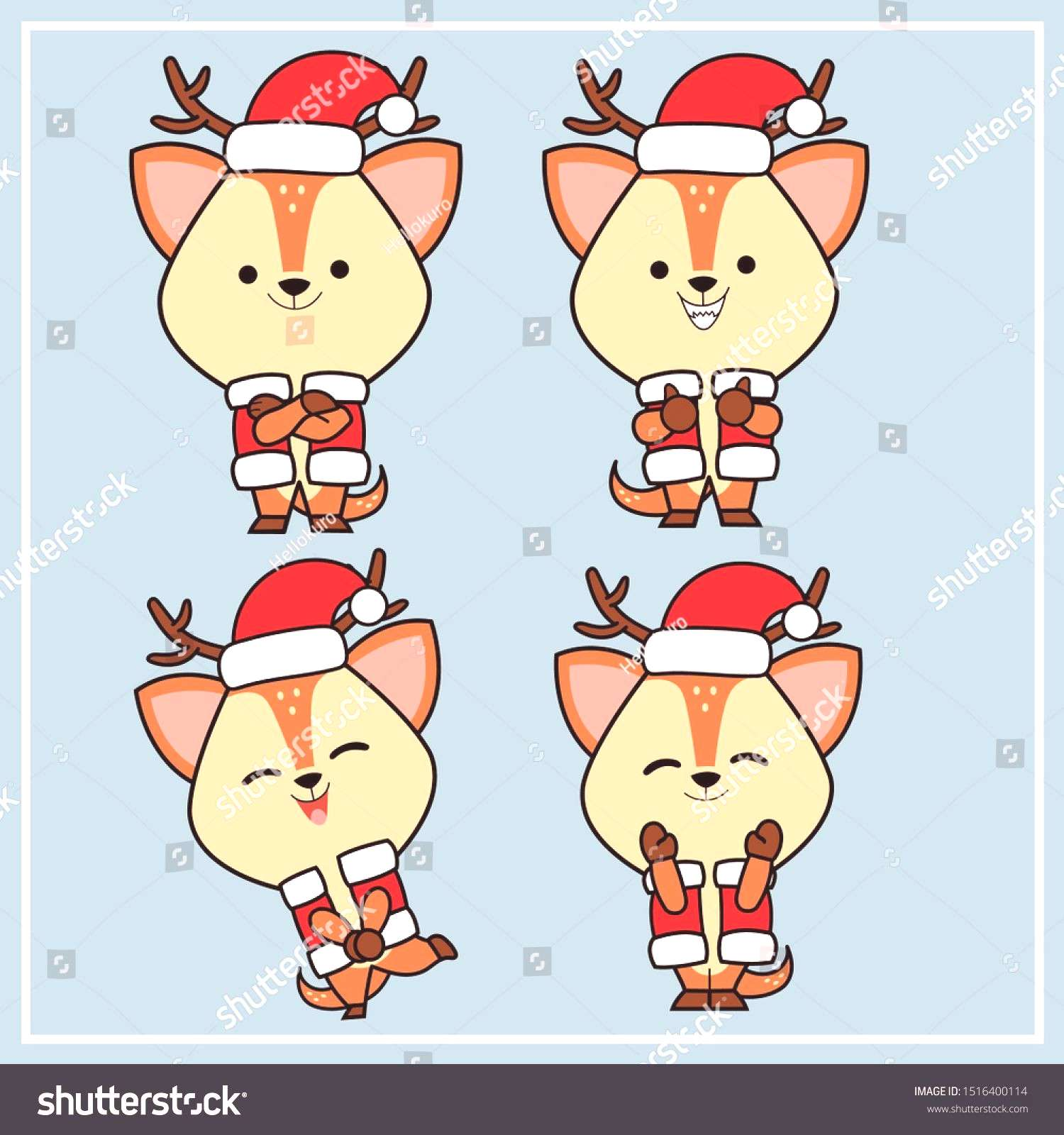 christmas costumes deer christmas costumes deer Deers (Cute Character) - Collection Set 4  