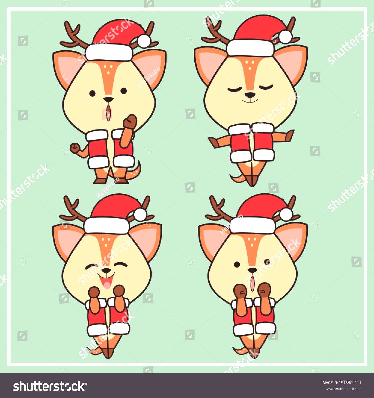 christmas costumes deer Deers (Cute Character) - Collection Set 10 |