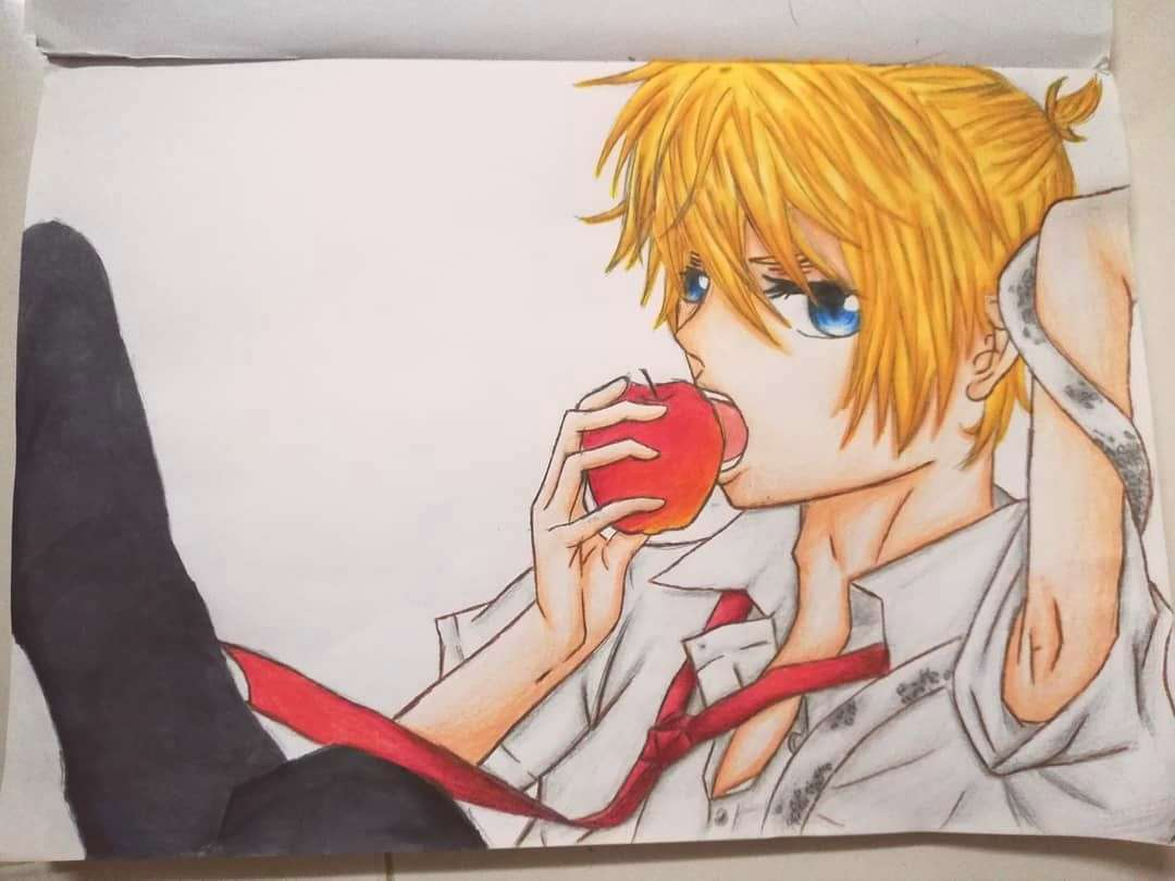 Drew this with a reference from kagamine Len out of Eden cause idk what to draw and I have no inspi