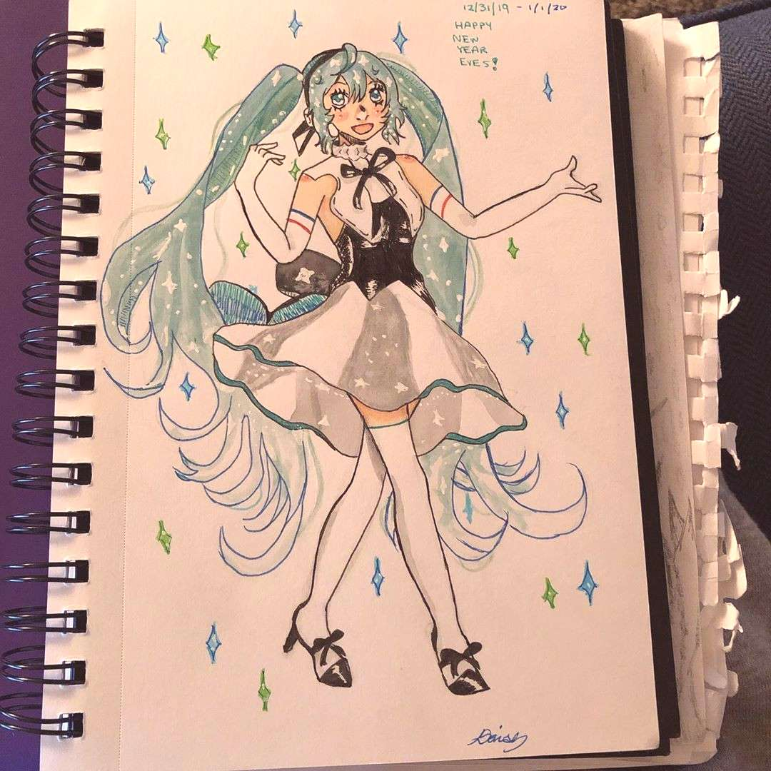 finished the miku drawing yesterday but was too lazy to post it so yea :3 i'm really proud of thi