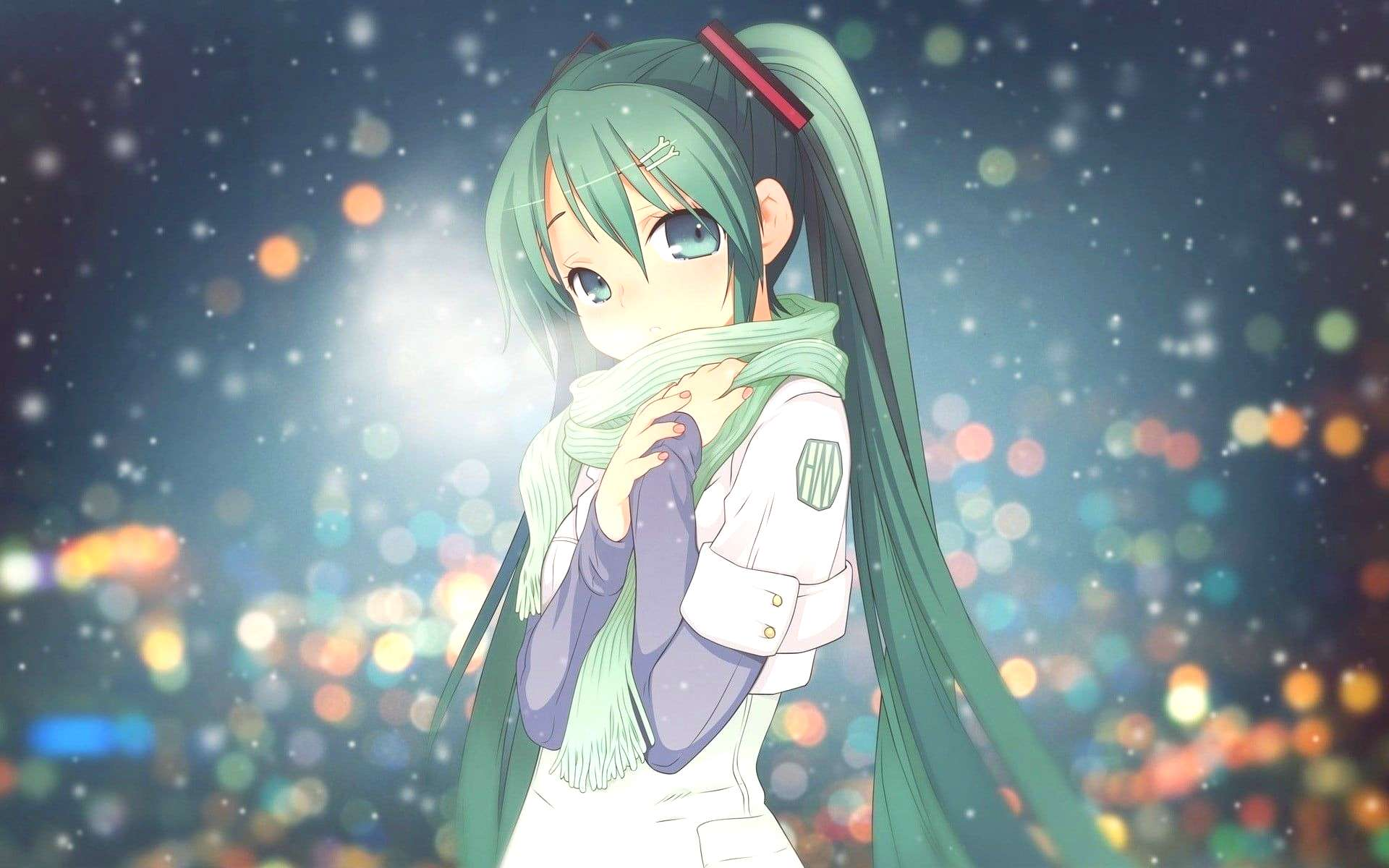 green haired female anime character digital wallpaper anime girls haired female anime character dig