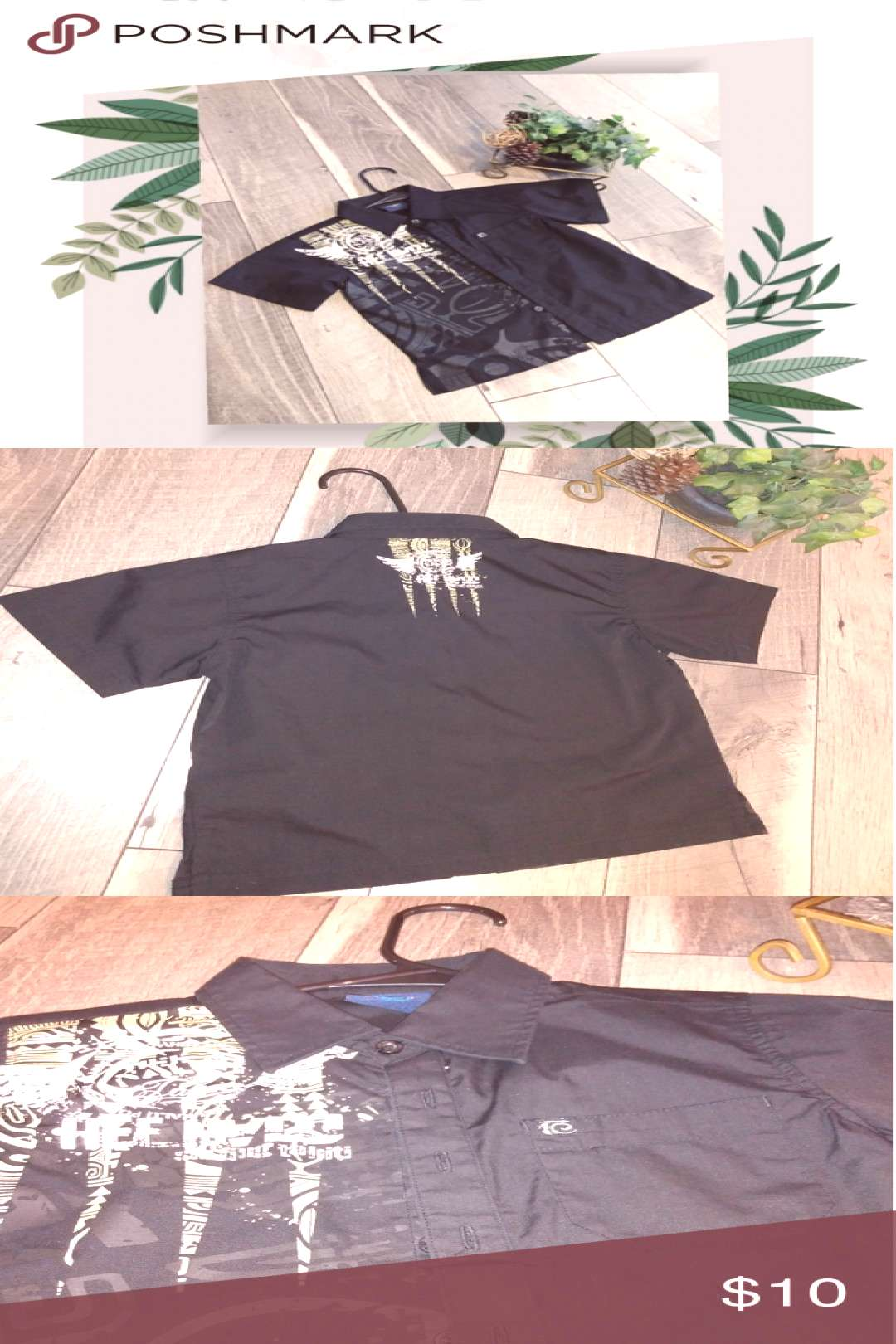 Hee Nalu button down shirt sz 6 Made and purchased in Tahiti ????????????????…    Hee Nalu button