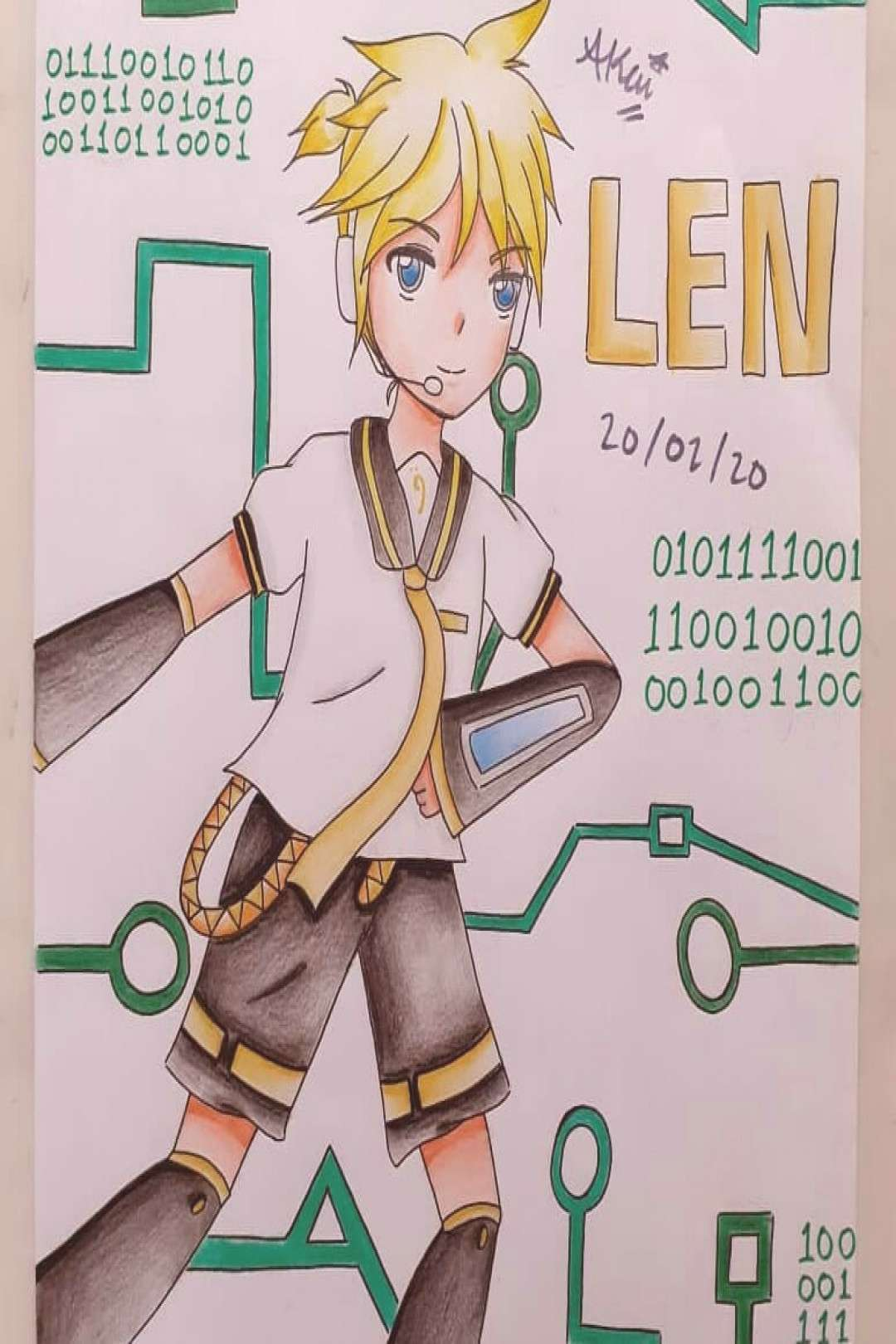 I drew Rin and Len again after a long time!! XD But i drew this a
