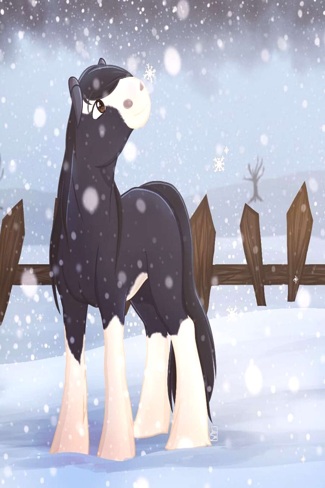 I made redraw \o/ This is StormWhisper my shire horse on SSO, i m
