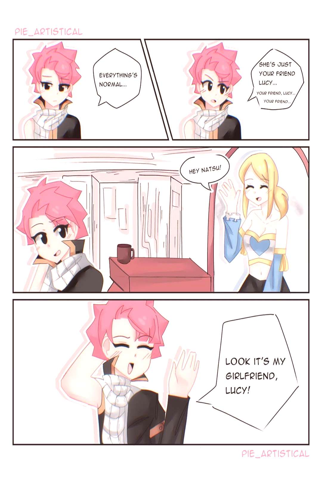 I redrew a cute comic from last year. I think it was Kari ( .anim