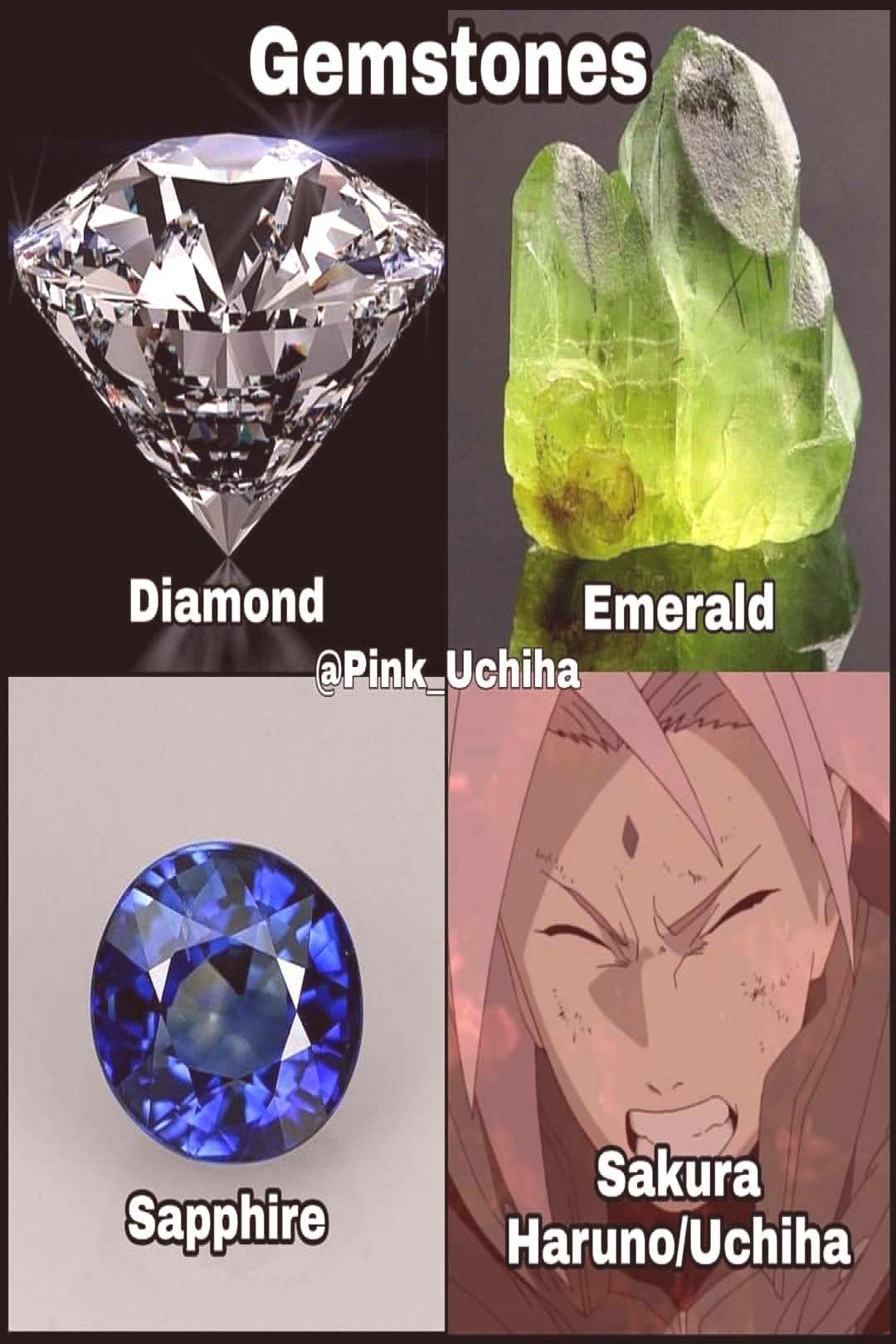 My favourite gem stones - - Who's to your favourite Naruto charat