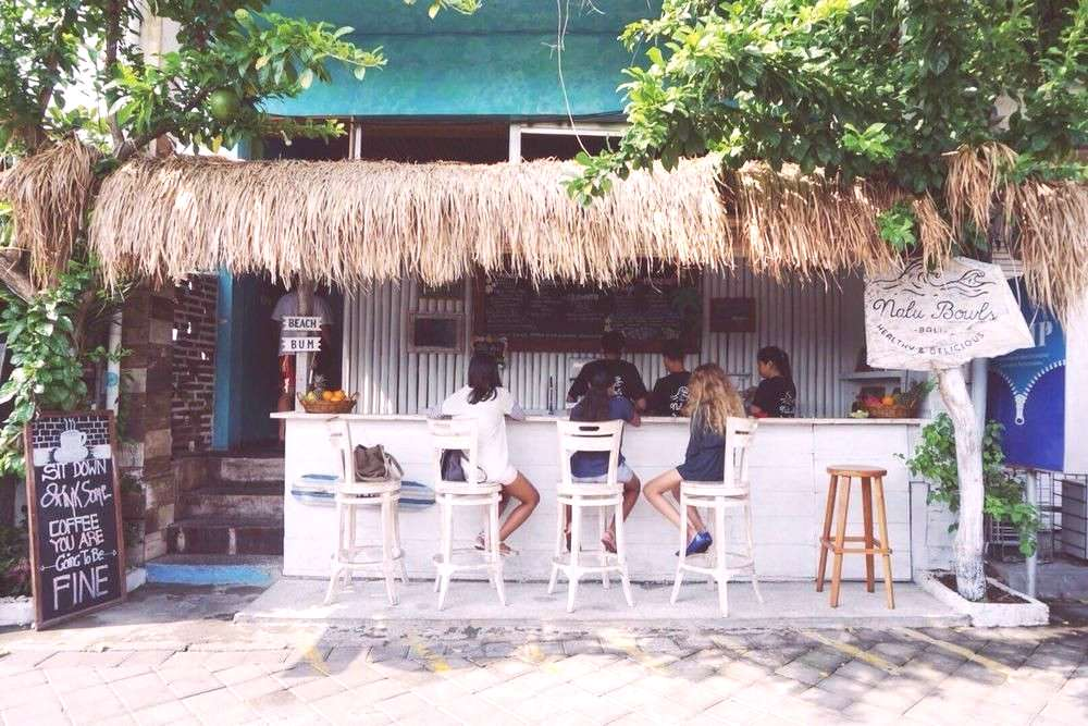 Nalu Bowls, Bali's first smoothie bowl shack.  Nalu Bowls, Bali's first smoothie bowl shack.