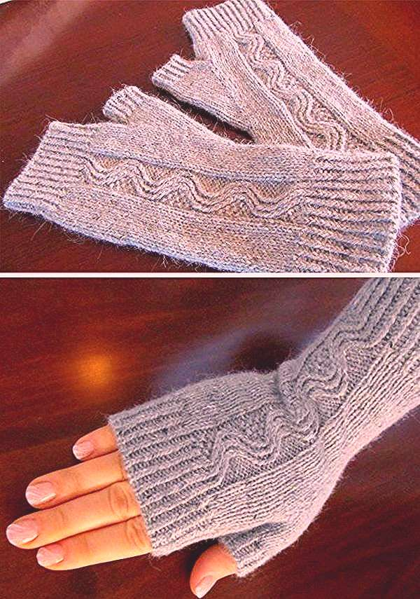 Nalu Mitts - Free Pattern Knitting , lace processing is the most beautiful hobbies that women will