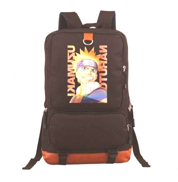 Naruto Backpack Cartoon Student School Bag Leisure Time Shoulders Laptop Travel Bags Anime Ba…: N