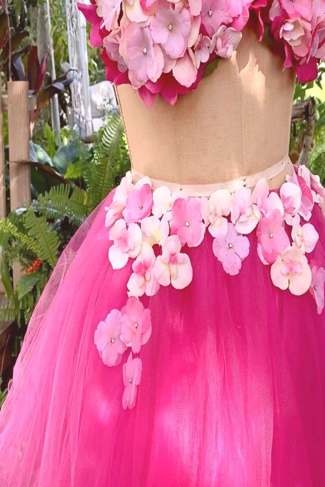 Our pink flowers fairy is available for rent