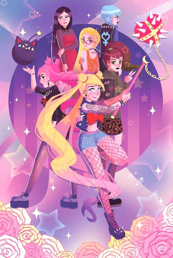 Punk Sailor Moon Poster