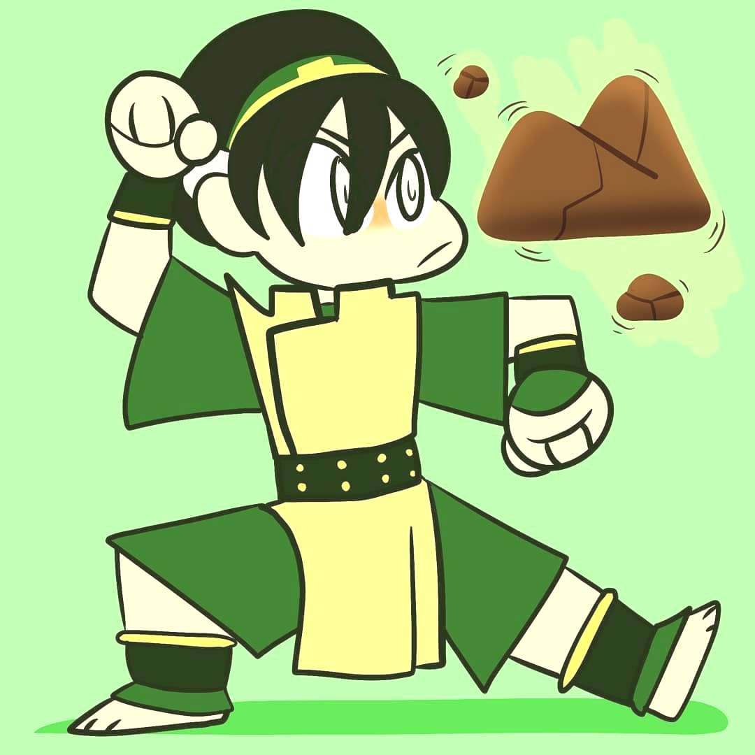 Quick doodle of Toph because I love her . . .