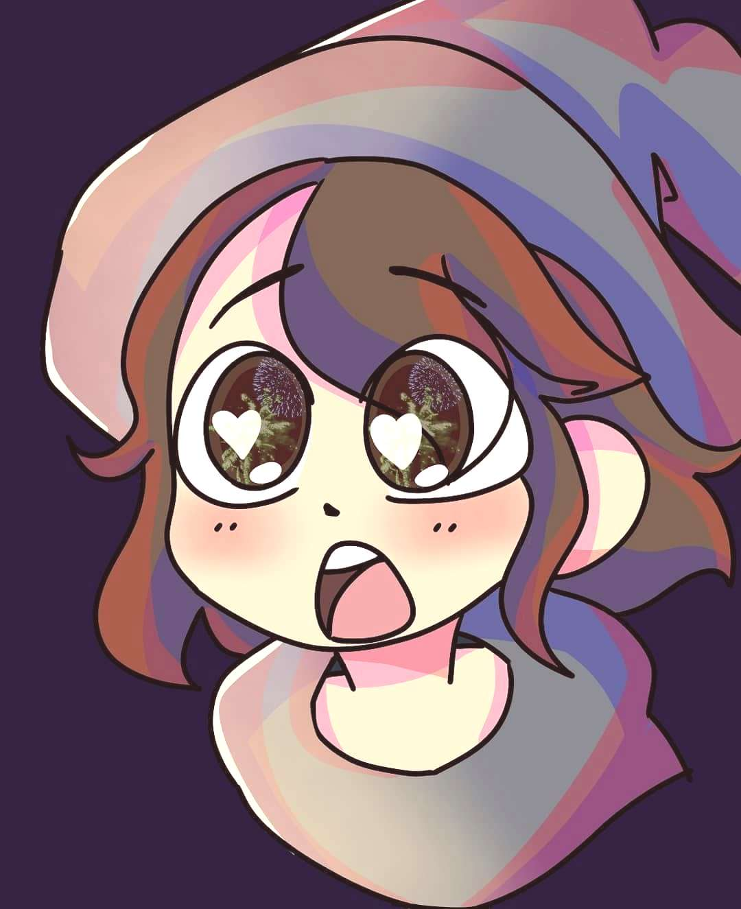 redraw from a anime im watching called Little Witch Academia