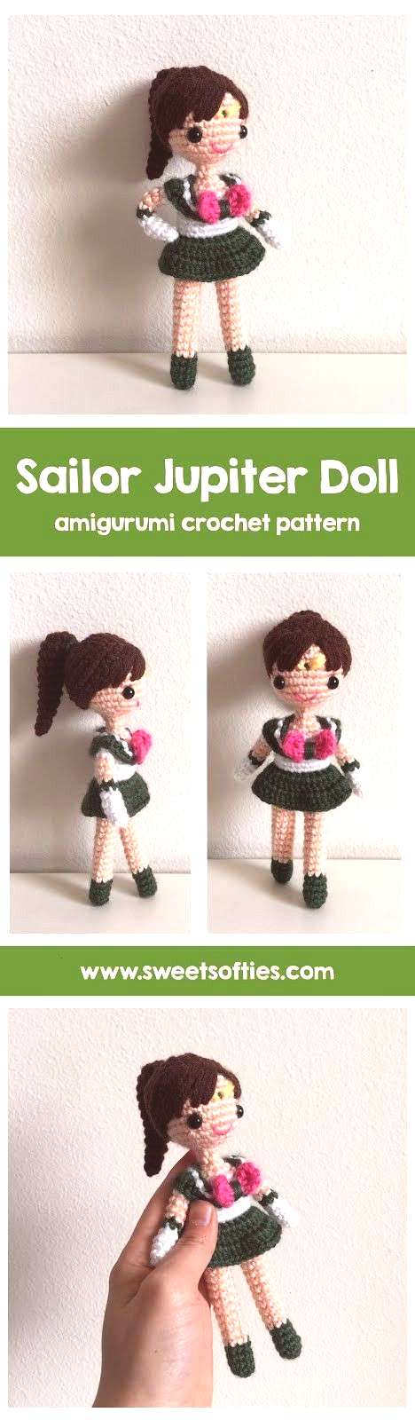 Softies  Amigurumi and Crochet Sailor Jupiter Amigurumi Crochet Doll Sweet Softies  Amigurumi and C