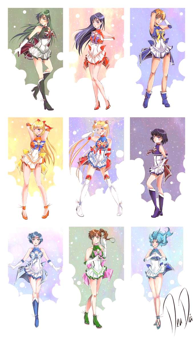 Super Sailor Senshi - New Outfit Redesigns by daadia