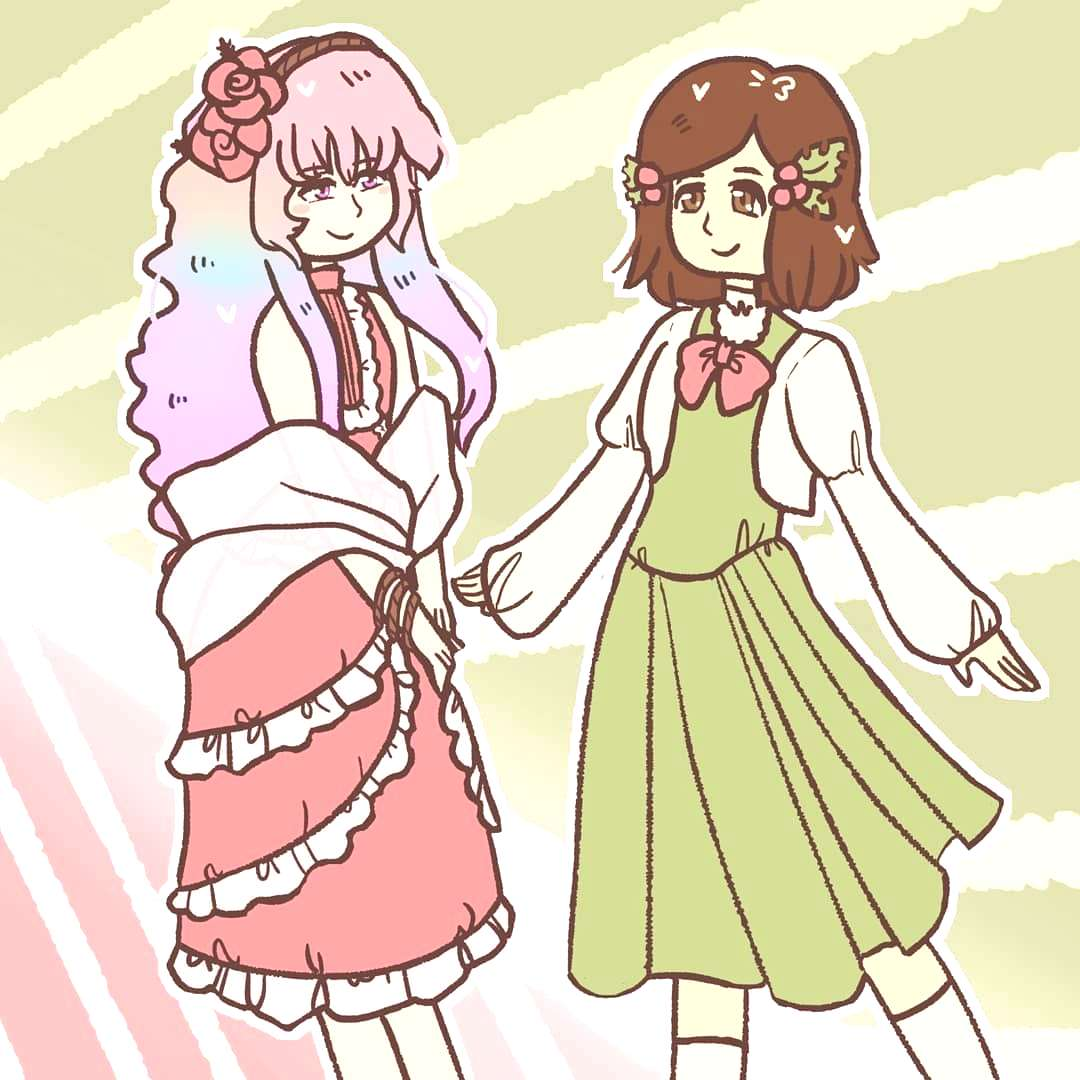 This is a little gift for @sikke_anki ! Her characters Pastel and Fiore! Merry Christmas. Please fo