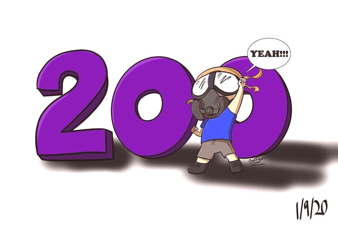 Woo! Thanks to the support of all of you I got to 200 followers! Cant wait to see how many more peo